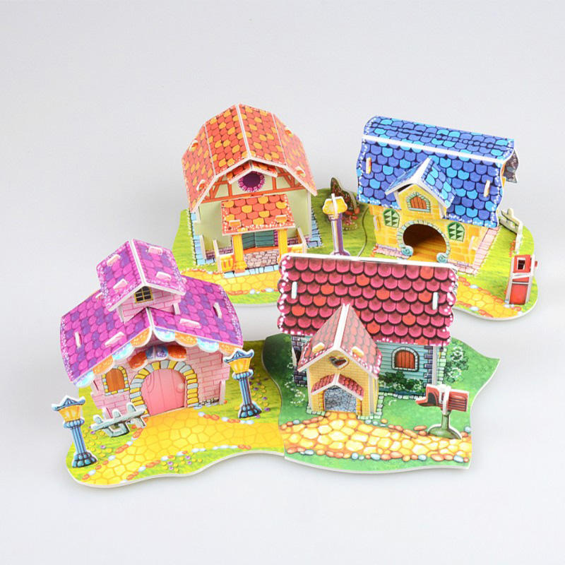 High Quality 3d Paper Model Toy Cardboard Puzzle 3d Paper Model 3d Puzzle Jigsaw House