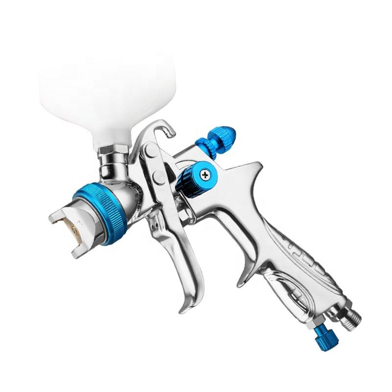 GEYE 1.3mm professional hvlp spray gun with 600ml plastic pot