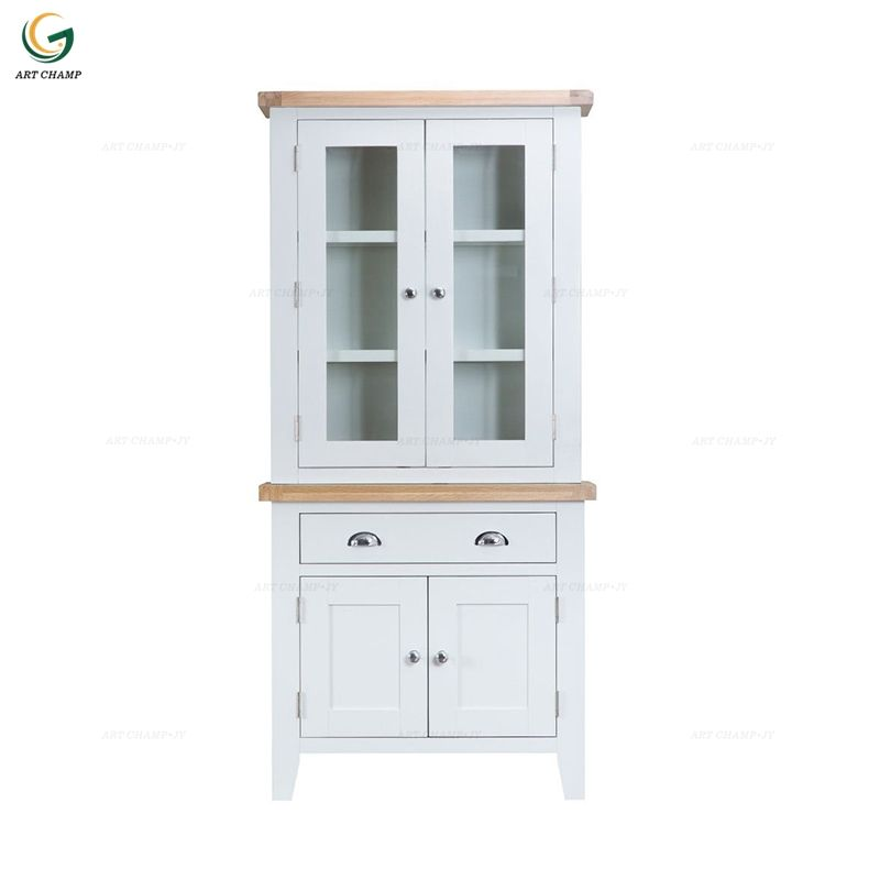 Simple designs storage furniture glass display cabinet wooden living room book cupboard