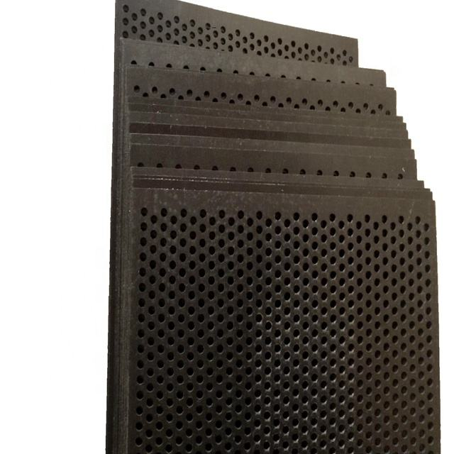 Black 2mm thickness perforated plastic PP/HDPE/PVC sheet for filters
