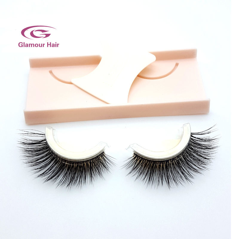 Best quality strip pre glued lashes self adhesive false eye lashes