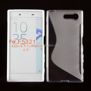 Voor sony xperia x compact mini f5321 case cover soft tpu s line case