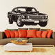 Racing Car Wall Murals Room PVC Motors Silhouette Removable Decals Sticker