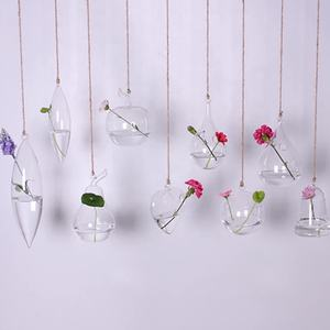 micro landscape glass hanging planter with different shape