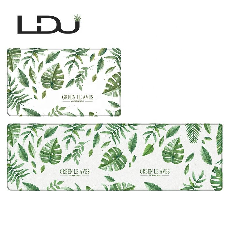 Modern Decorative Comfort Printed Indoor Non Slip PVC Kitchen Counter Mat