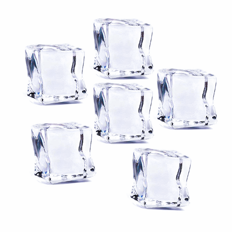 Transparent acrylic ice cube for bar beer cooling