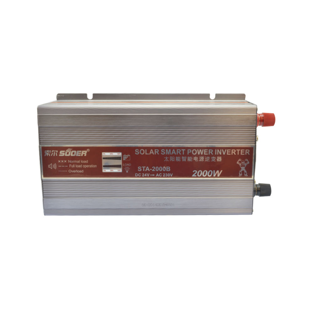 Suoer 2kw DC to AC offgrid solar power inverter 12v 220v