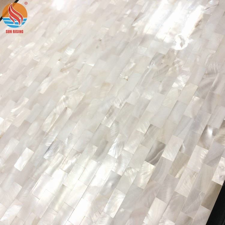 Pure White Mother of Pearl Shell Mosaic