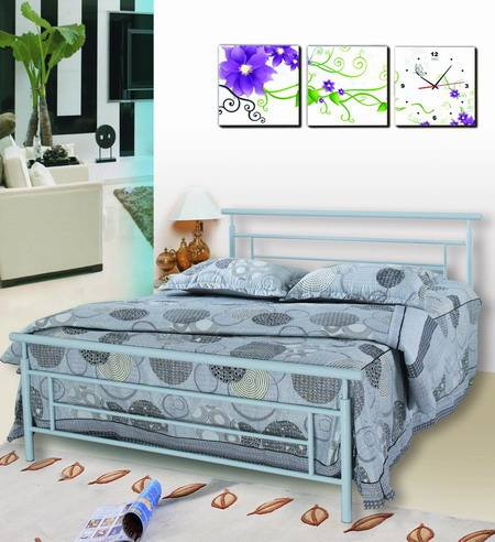 Yukai foshan good quality design metal bed bedroom furniture double bed DB-702D