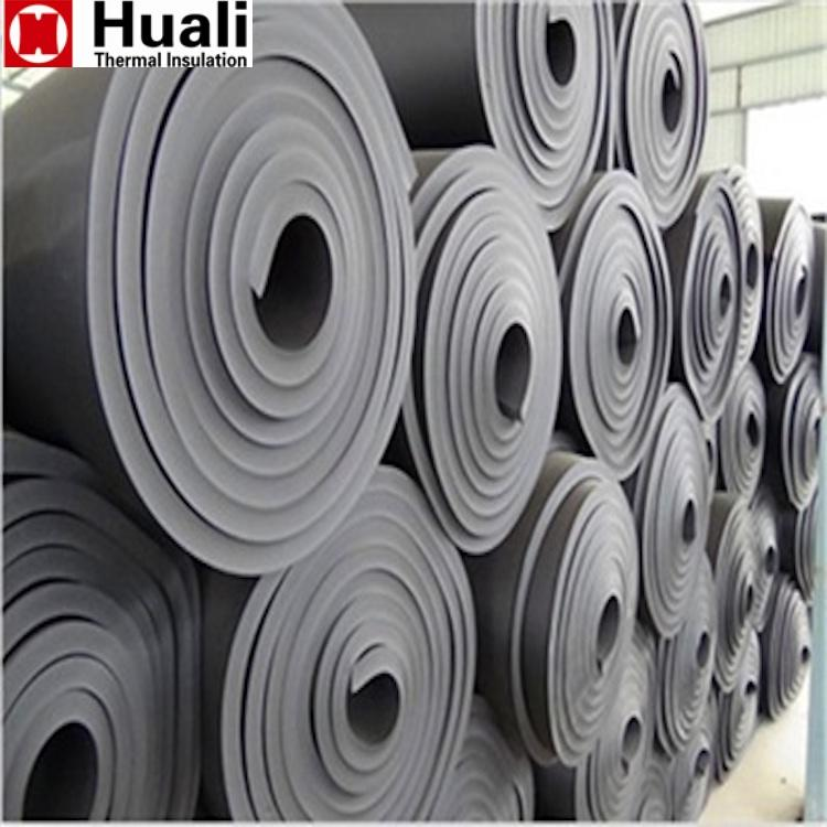 class 0 NBR nitrile pipeline pvc rubber foam closed cell sponge rubber thermal insulation roll