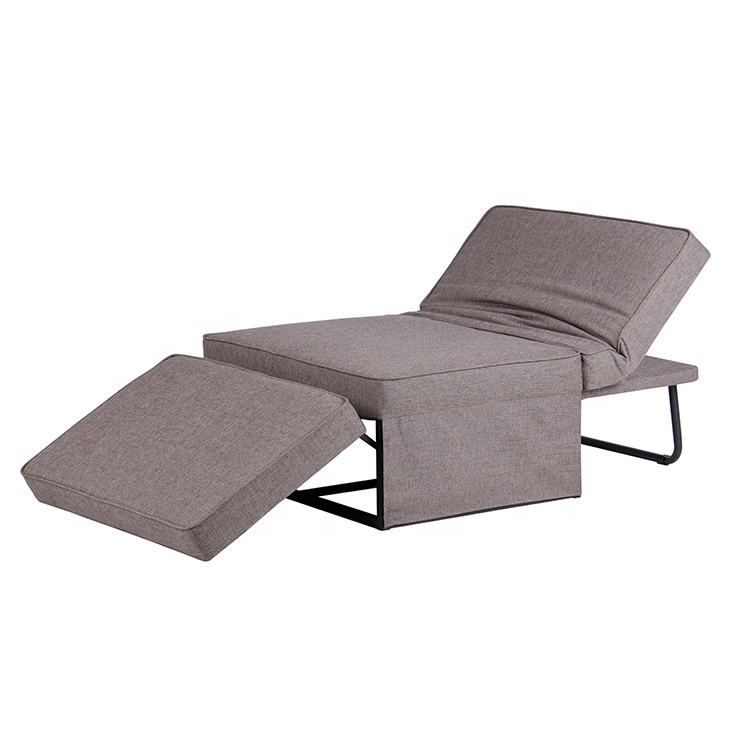 Folding Lazy Sofa Floor Chair Sofa Lounger Bed Armless Chaise Couch Multi-purpose Single Seat Sofa Bed