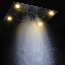 Big shower head 600*800mm rainfall ,mistfall,waterfall,water curtain and multiple function led bathroom shower