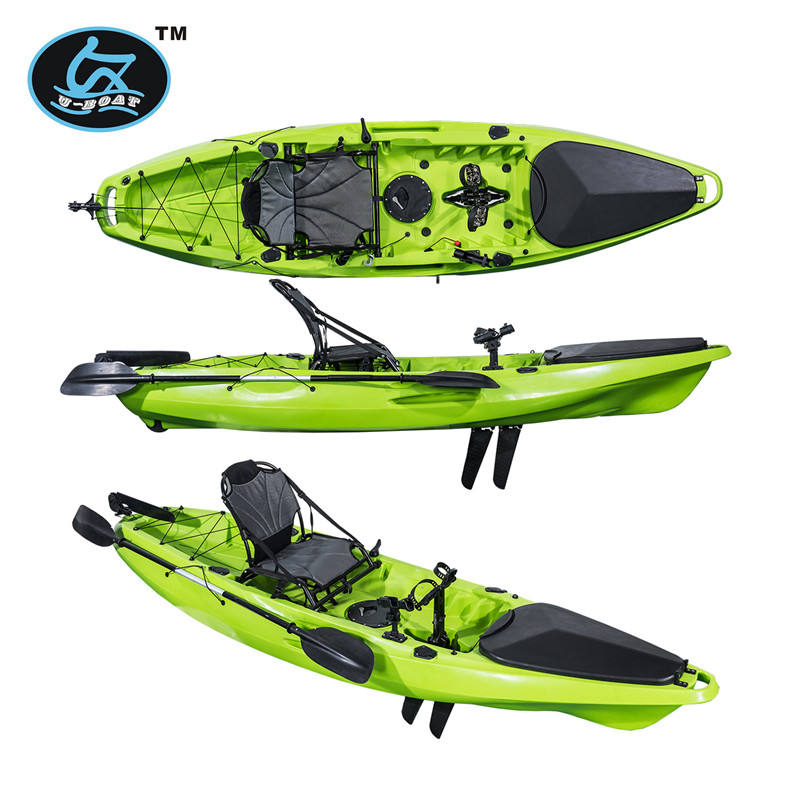 3.2m Length and 1 Paddler sit on pedal powered kayak with rudder system