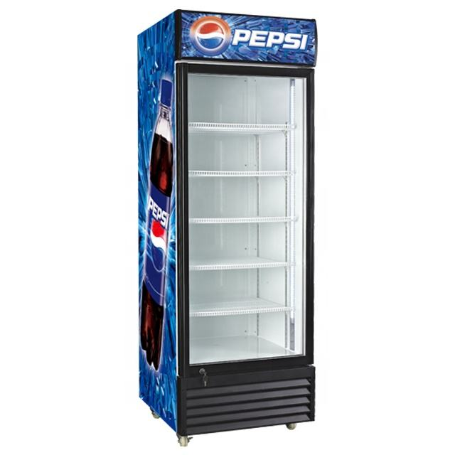 Pepsi Refrigerator with Glass Door for Beverage Display and Promotion