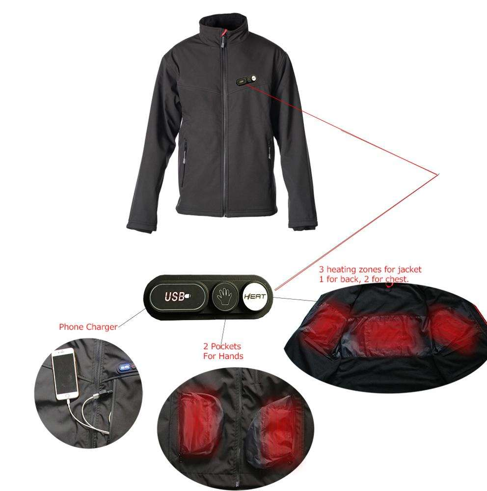 7.4V winter Battery Heated Jacket / clothing hot