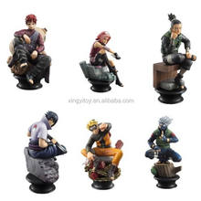 "Japanese Anime 6pcs Naruto Sakura Momochi Chess Piece Collection 8cm/3"" Cute Toy Action Figure"