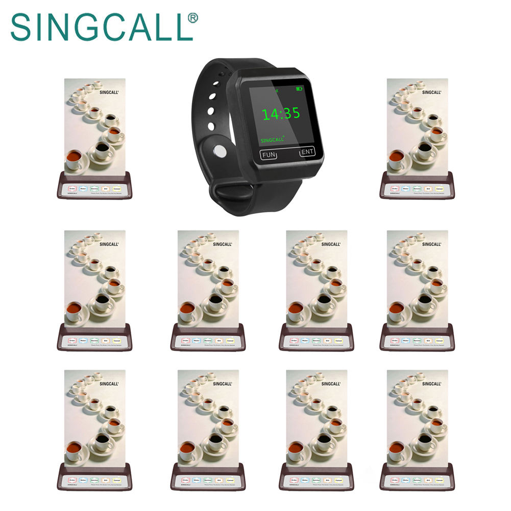 SINGCALL long range equipment wrist pager wireless table number service