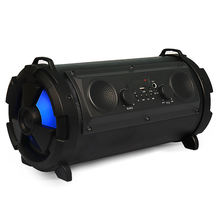 New product New Outdoor Portable 15W Subwoofer Karaoke BT Speakers Colorful LED Cylinder Super Bass