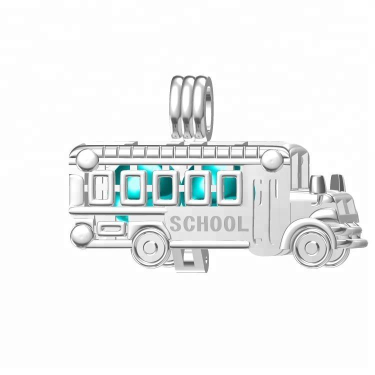 School Bus Charm//Pendant Tibetan Antique Silver 23mm  5 Charms Accessory Crafts