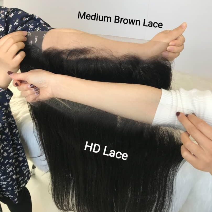 Transparent HD Film Lace Closure Elastic Brazilian Human Hair Extension