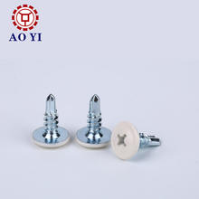 Galvanized stainless steel wafer head self drilling screws