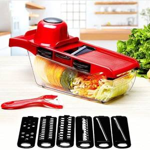 5 In1 Hot Selling Multifunctionele Restaurant Handleiding Fruit Groente Slicer En Salade Ui Snijder
