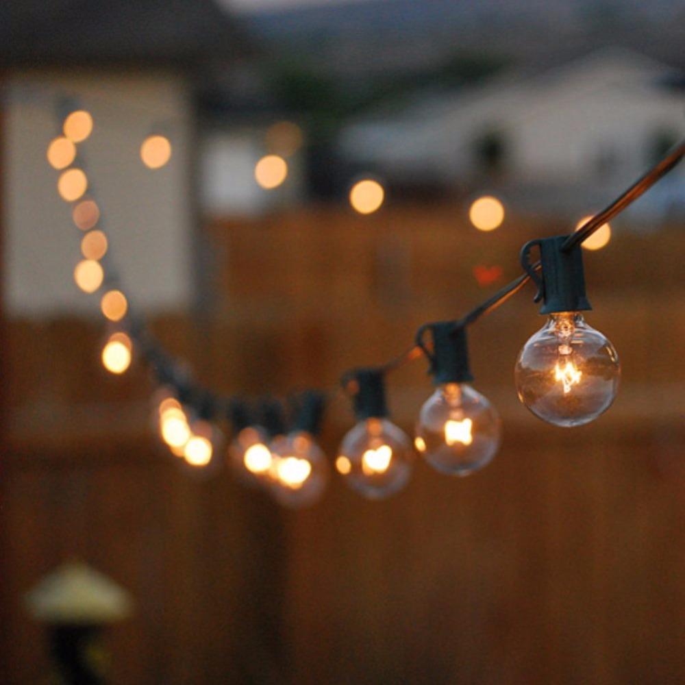 G40 Глобус строка фары с прозрачной шар старинные <span class=keywords><strong>лампы</strong></span> Indoor/Открытый водонепроницаемый висит зонтик строки патио светильники