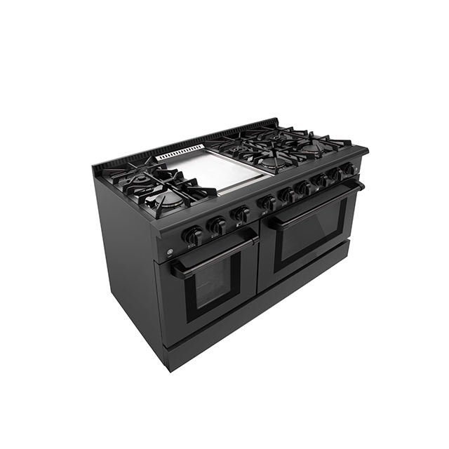 Freestanding 6 Burners Gas Range Tops Stove with Griddle plate