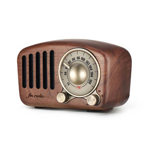 Best price portable retro cherry wood handcraft wooden FM radio