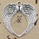 Angel Wings Charms Antique Tibetan Silver Wing Charm Pendants 74*69mm