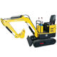 Mini excavator HH10 bagger China digger for sale