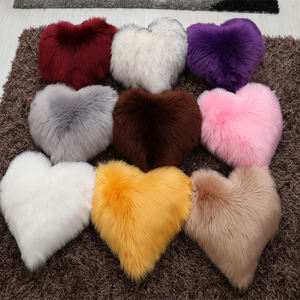 Home Decorative Good quality Sheepskin Faux Fur Cushion Covers Throw Pillow Case Very soft
