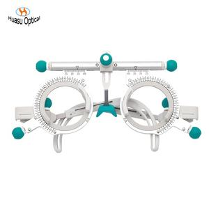 new pure titanium trial frames optometry eye testing trial frame adjustable PD Nose white color