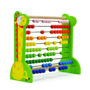 Wooden math abacus toys set for kids Wooden bead counting abacus