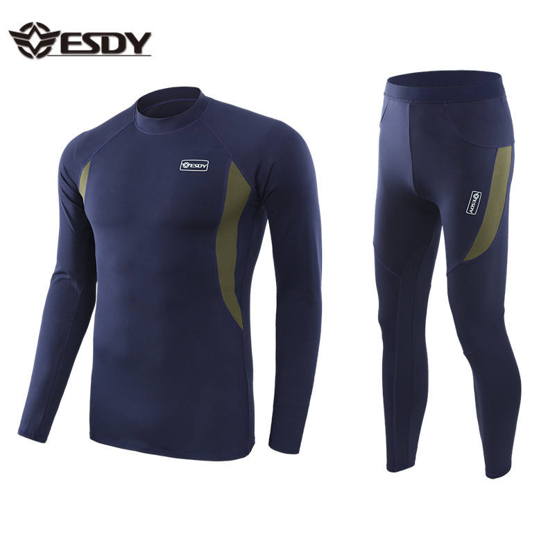 Navy blue OEM Service tactical thermal fleece warm clothing thermal underwear