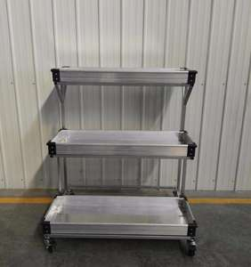flower display trolley cart stand for garden center