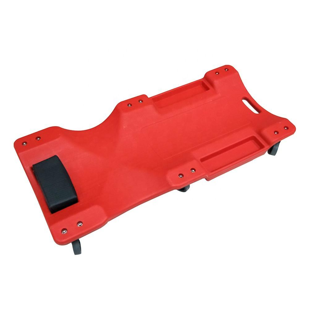 Red Color Mechanic Under Car Roller Trolley Creeper