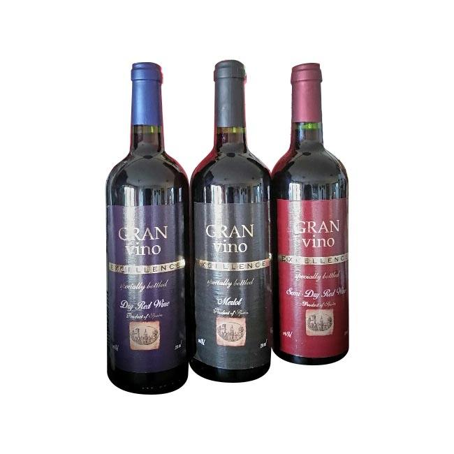 Gran Tinto Vino Rosso Sweet Red Wine 11% from Bottle OEM FREE