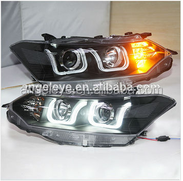 For TOYOTA VIOS LED Angel Eyes Head Lamp 2013-2014 year U Style LF