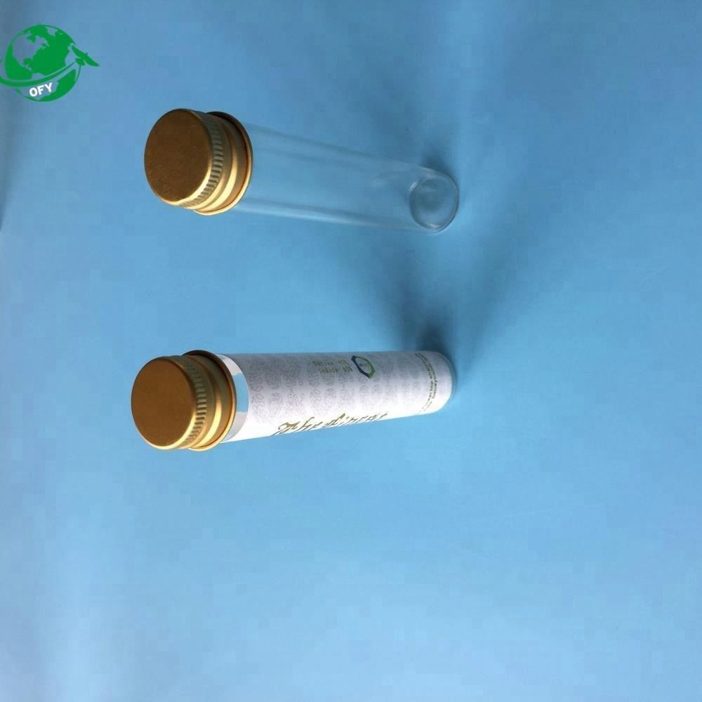 fully custom design made aluminum cap glass cigar tube in bulk