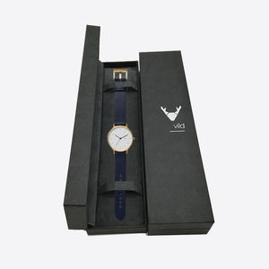 Luxury black cardboard customize printing high quality packaging paper watch boxes