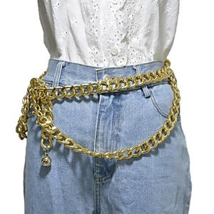 Factory directly sale gold waist chain belt for women dress