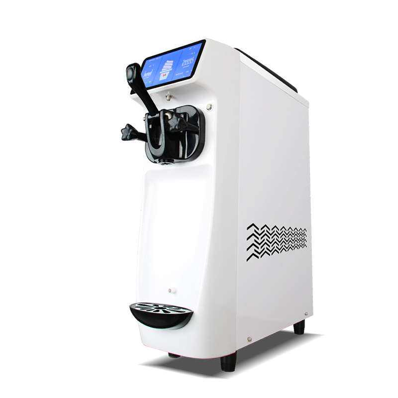 Portable soft serve ice cream machine with 7 inch touch screen
