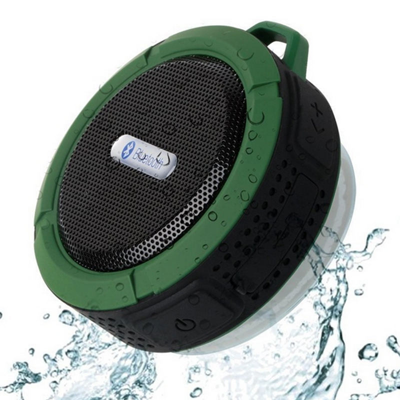 2018 promotional outdoor IPX4 waterproof sucker wireless C6 bluetooth speaker with TF card