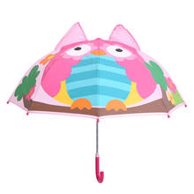 Children uv protect 3D animal-shape cartoon kid rain umbrella