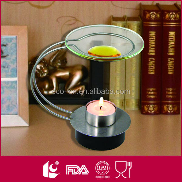 Home decorative stainless steel clear glass oil burners