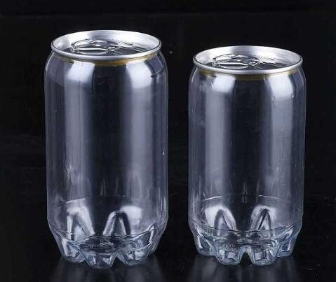 customize size 250ml 330ML 350ML 473ML 500ML plastic easy open can with lid for soft drink high temperature resistance