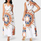 Fashion plus size long maxi white Women casual african dresses