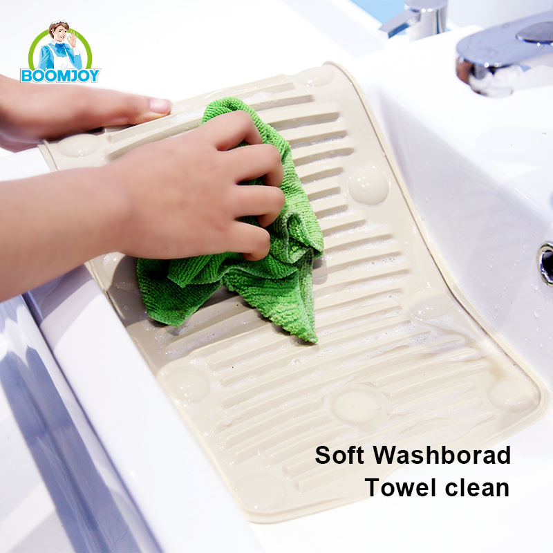 BOOMJOY Mop& Cloth PVC Portable Flexible Storage Laundry Cleaning Washboard
