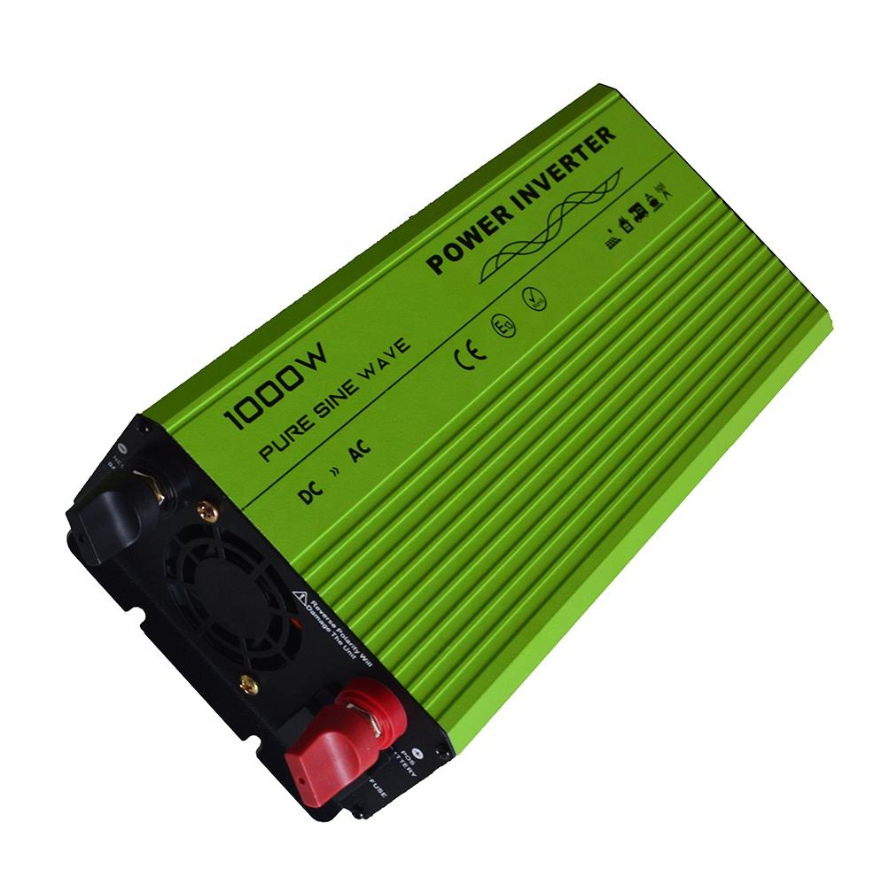 home use pure sine wave 1nverter 1000w 12v 220v smart power inverter dc to ac single output type